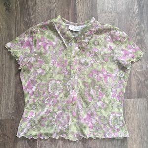 See through button down shirt